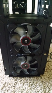 Corsair SP120 Fans at front of C70 Case