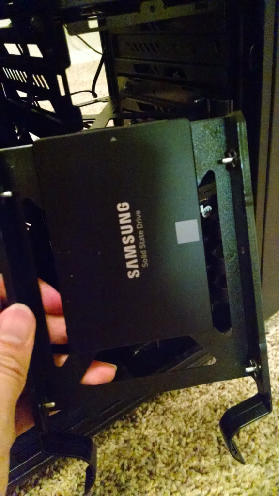 SSD Mounted onto Tray